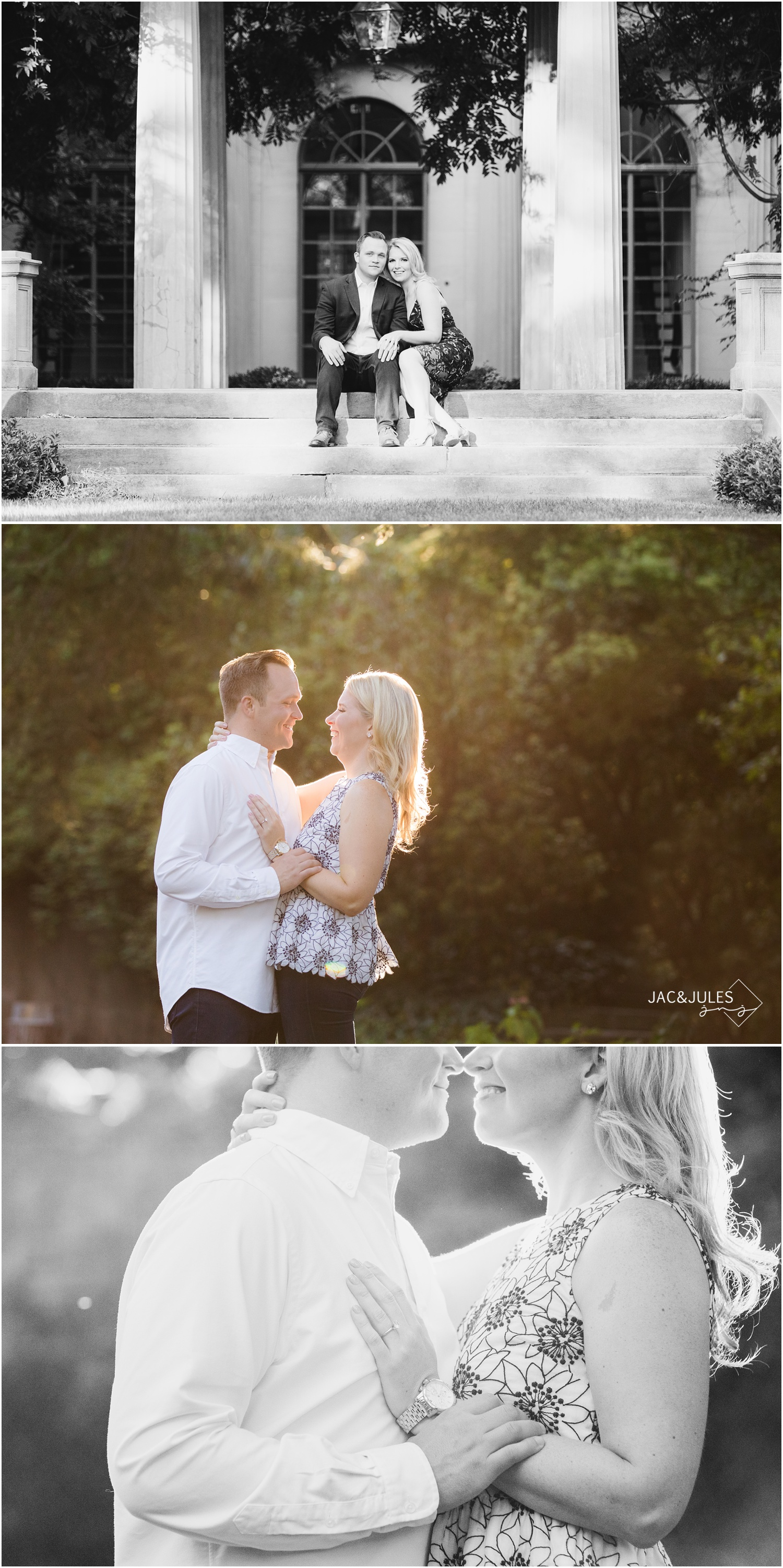 Estate Engagement photos at Van Vleck House and Gardens in Montclair, NJ.