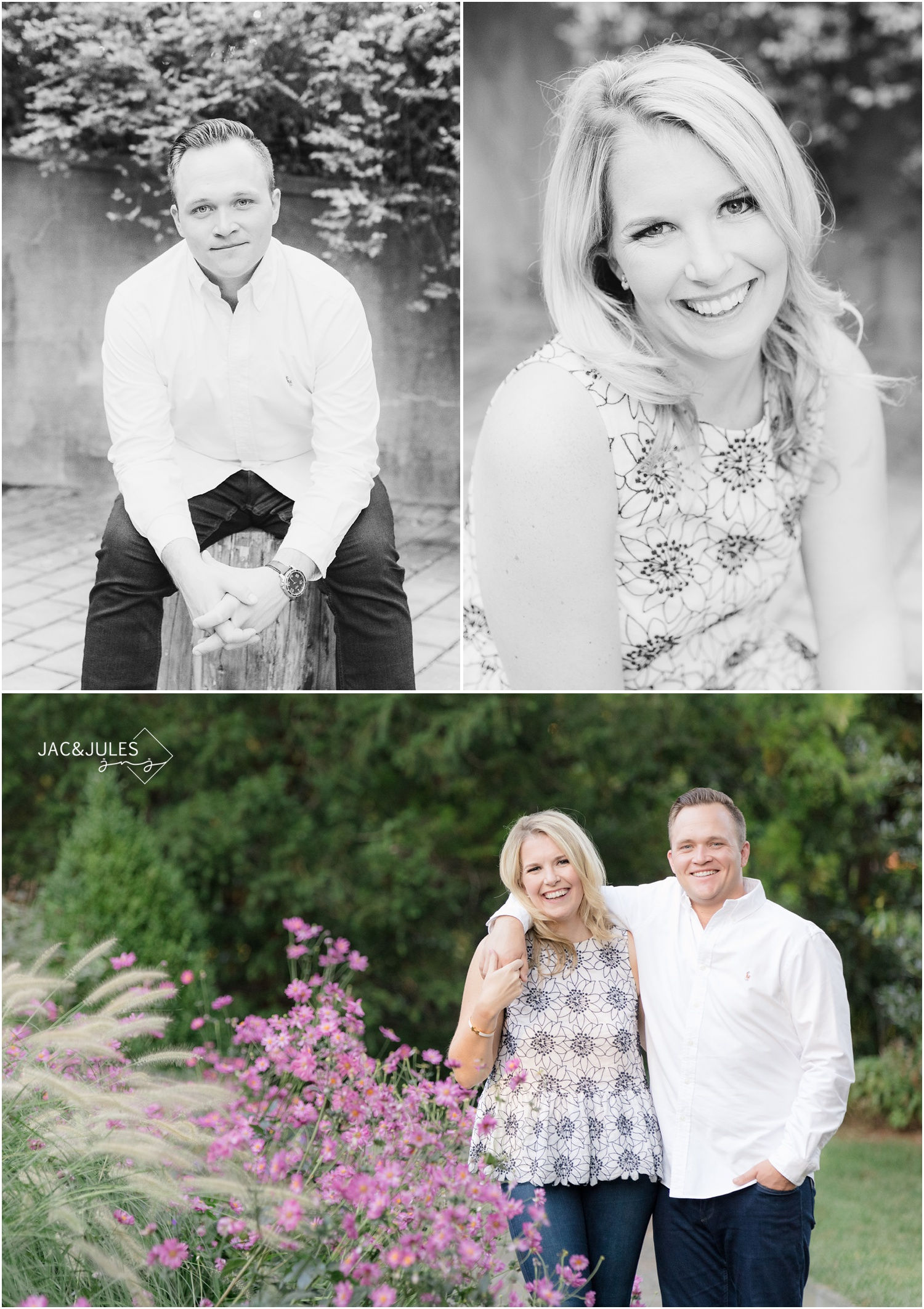 fun Engagement photos at Van Vleck House and Gardens in Montclair, NJ.