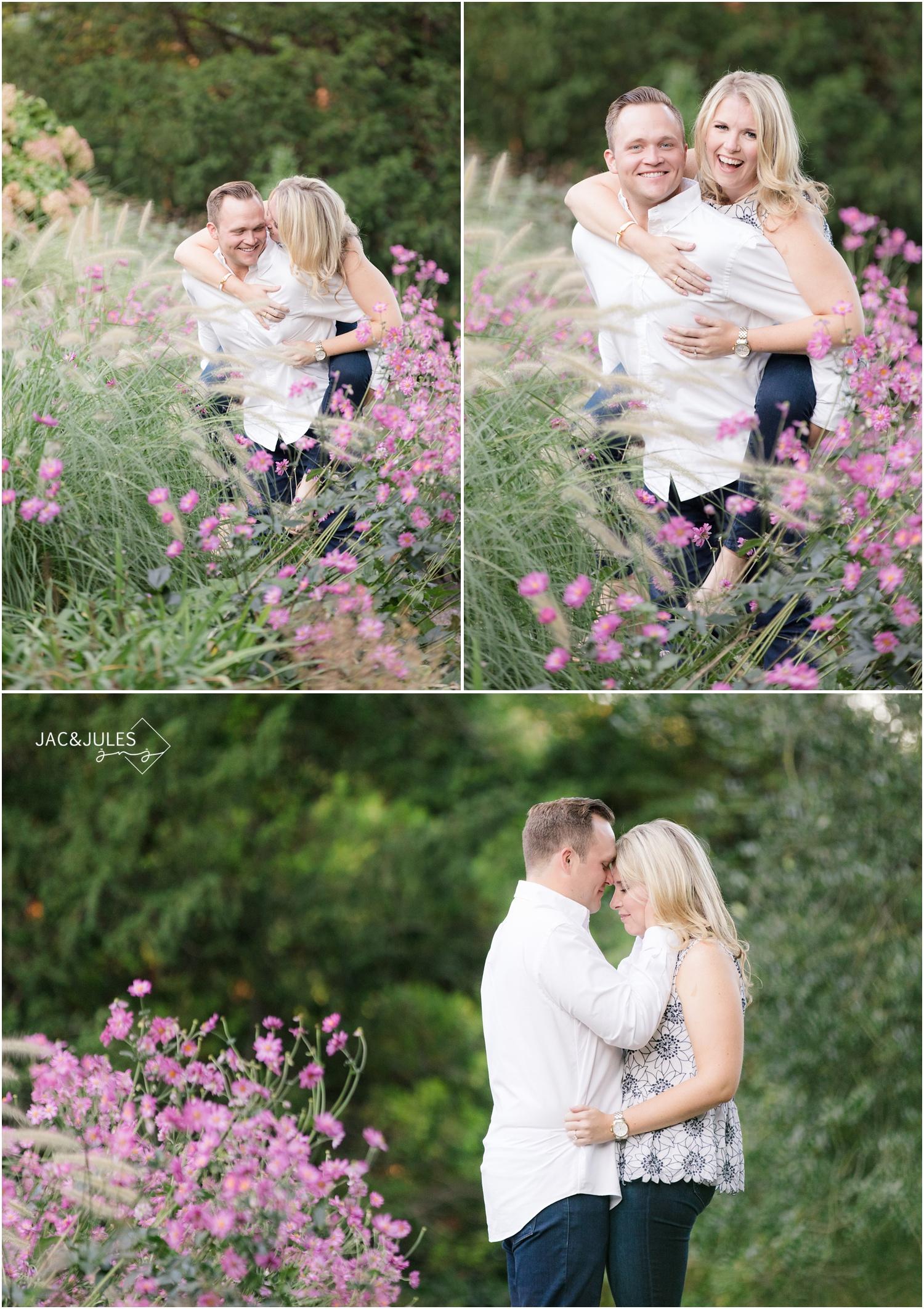 pretty romantic fun Engagement photos at Van Vleck House and Gardens in Montclair, NJ.