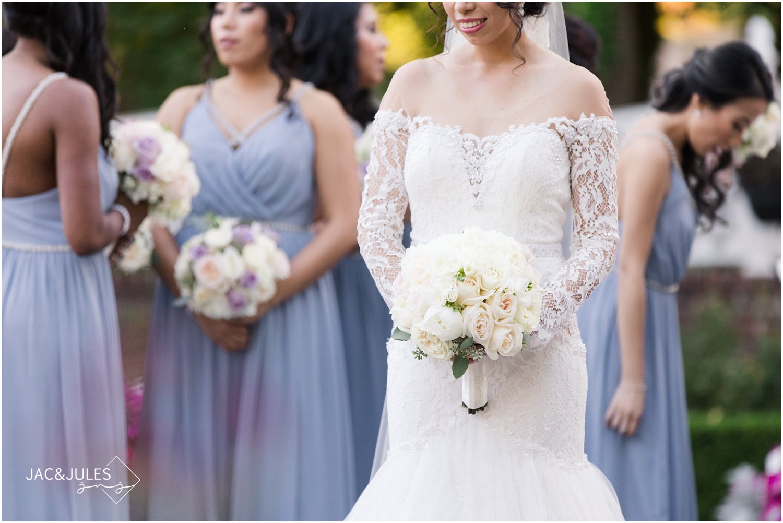bridal bouquet at The Shadowbrook in Shrewsbury, NJ.