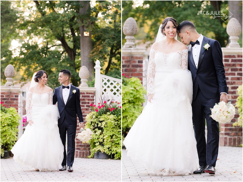 Fun bride and groom photos at The Shadowbrook in Shrewsbury, NJ.
