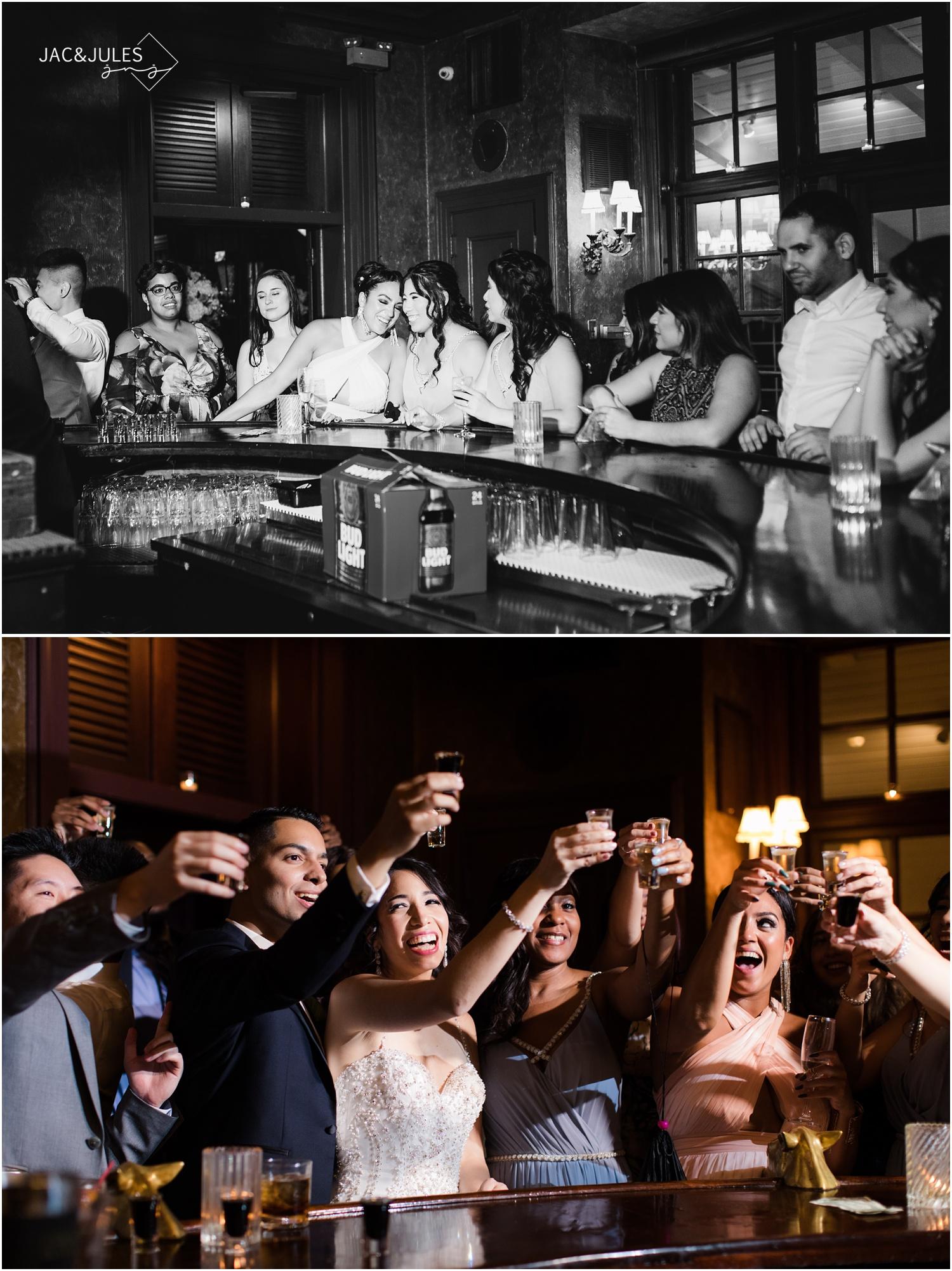 Shots at the bar photos from a wedding at The Shadowbrook in Shrewsbury, NJ.