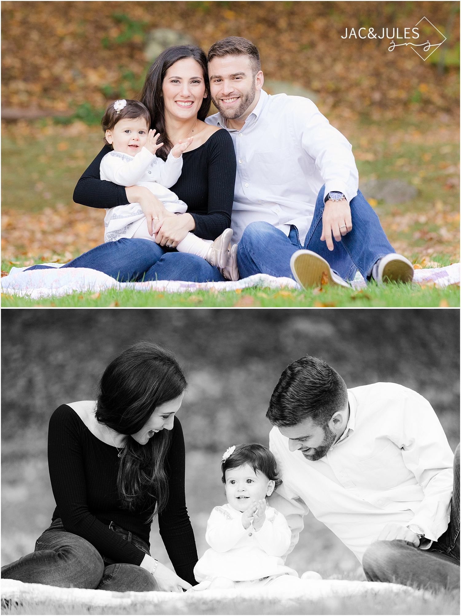 natural family pictures in mountain lakes NJ