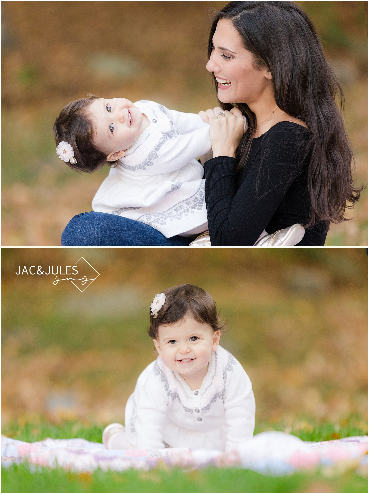 modern family photos at Grace Lord Park in Boonton, NJ