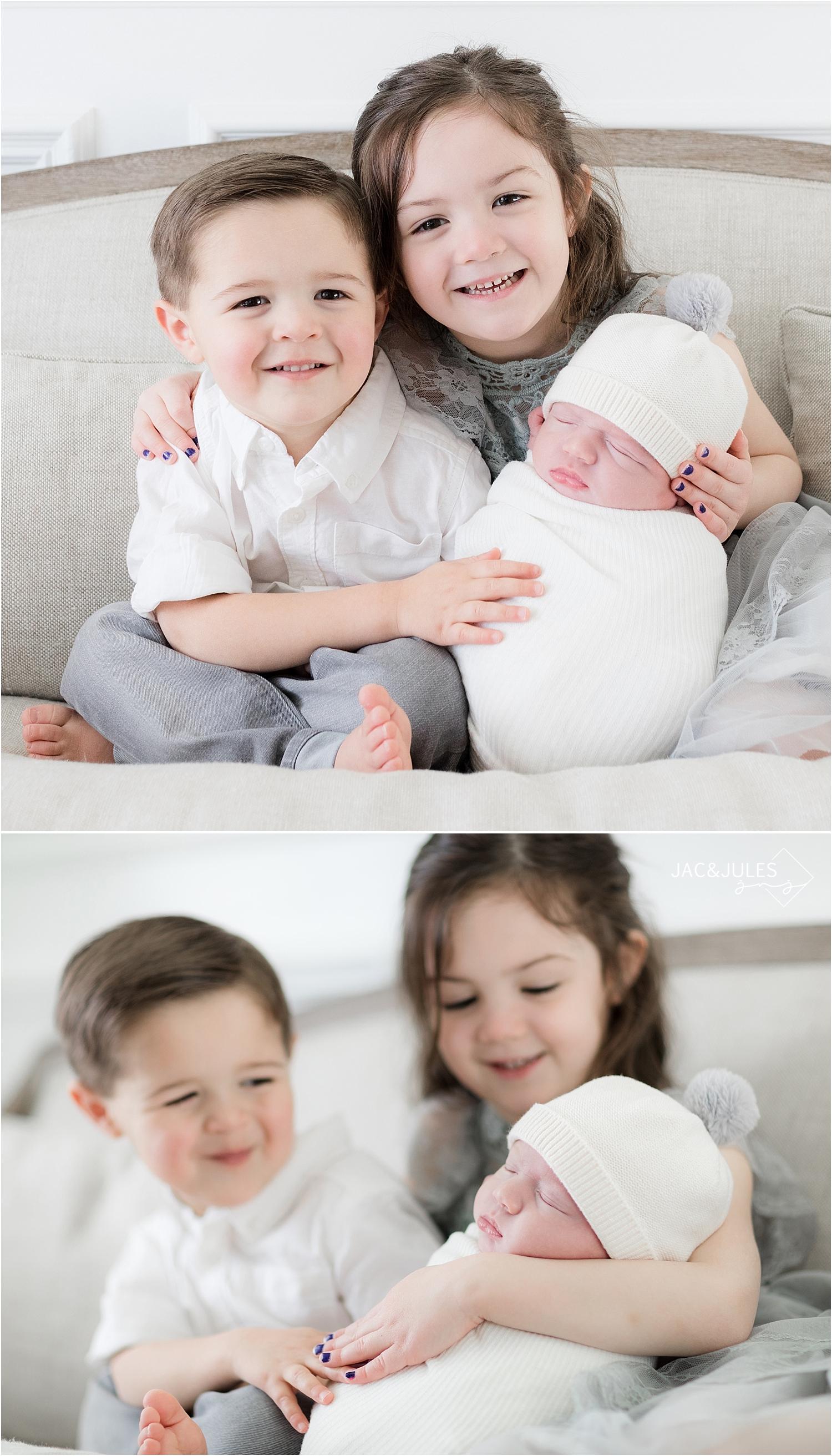 sibling newborn photo in toms river nj