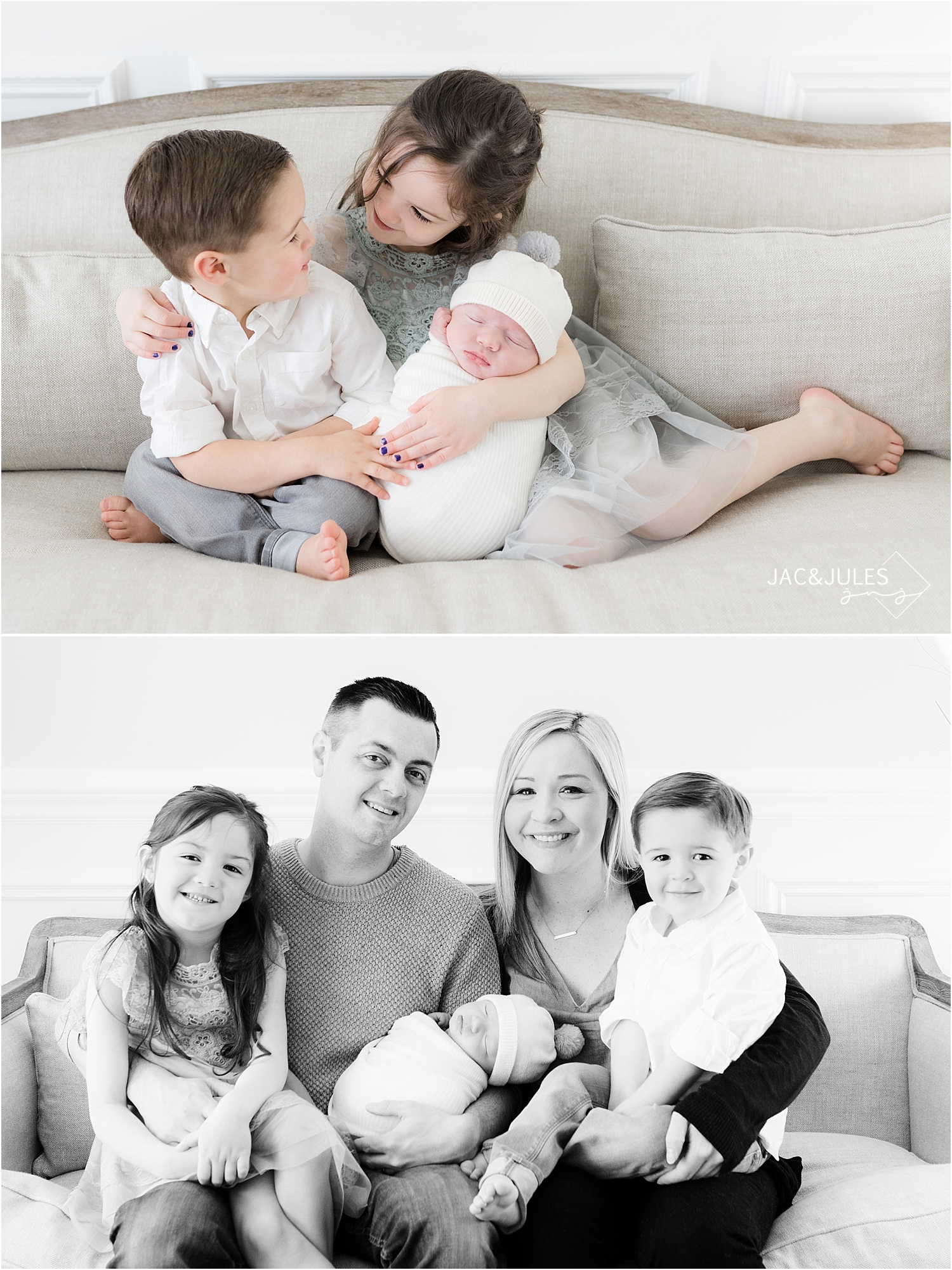 candid family newborn photo in toms river nj