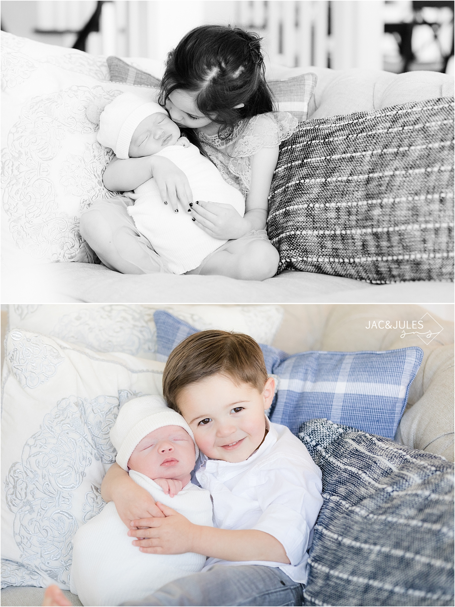 sibling newborn photo at home in toms river nj