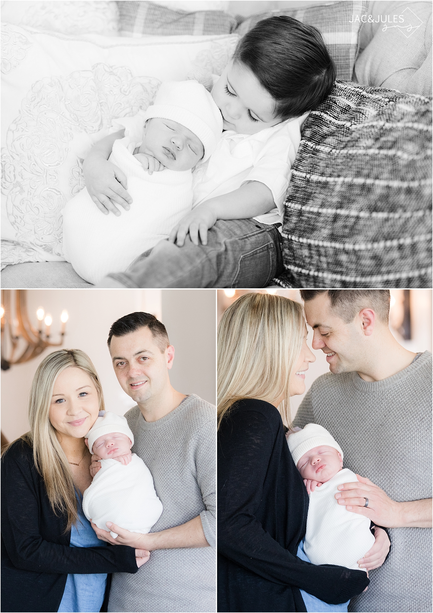 natural light newborn photo at home in toms river nj