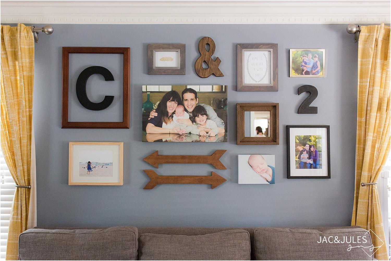 modern photo collage wall design