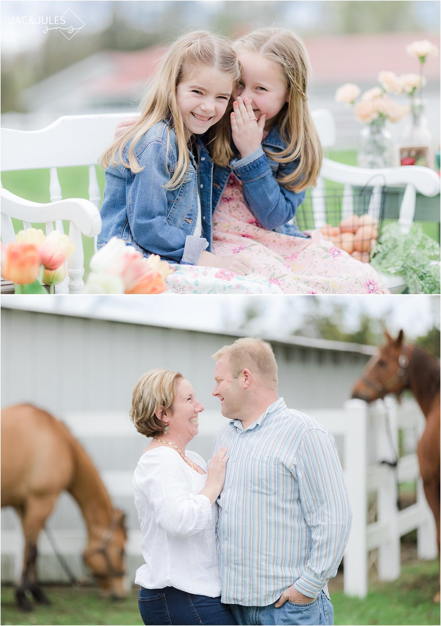candid family photos at a farm in cream ridge nj
