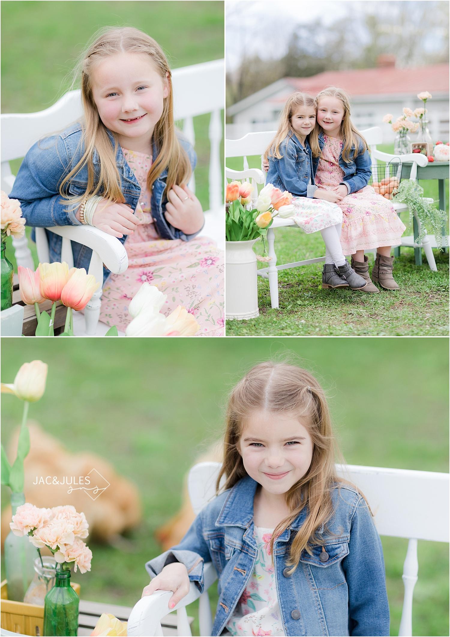 photos of girls at a farm in cream ridge nj