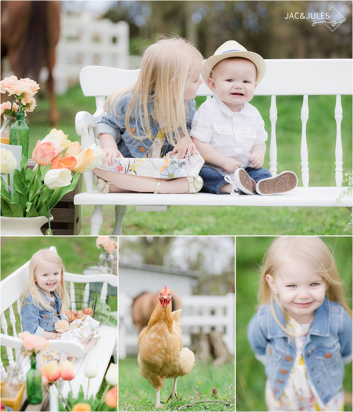 spring photos of kids on a farm in nj