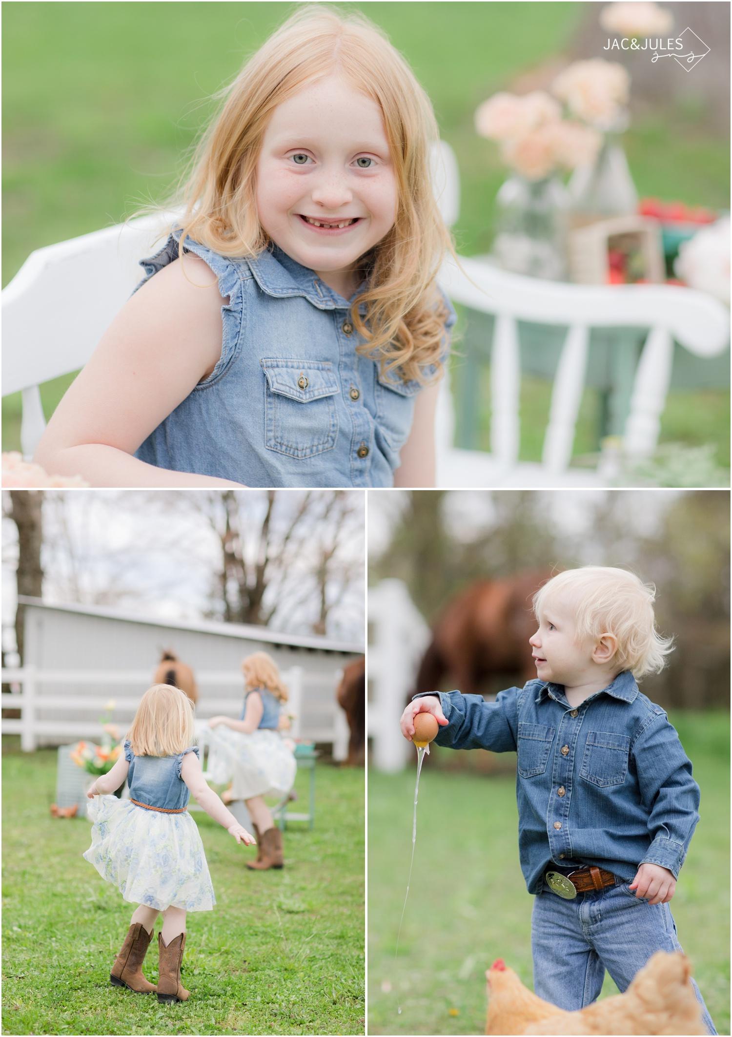 fun child photos at first go farm in cream ridge, nj.
