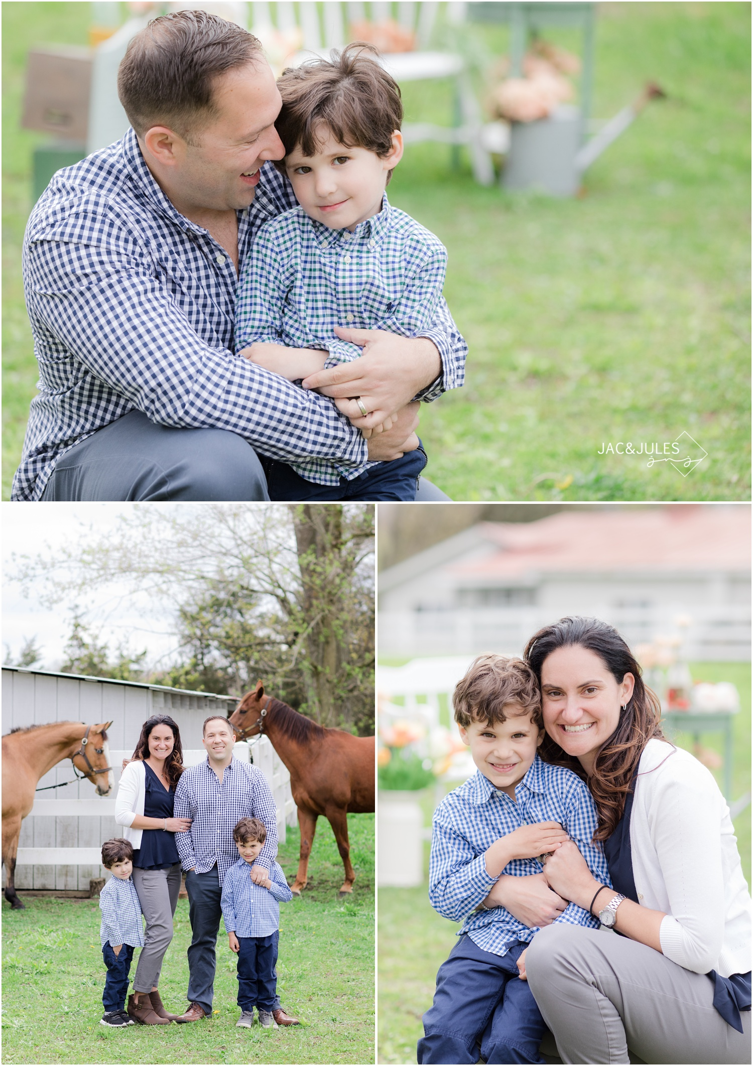 styled family sessions with horses in cream ridge, nj.