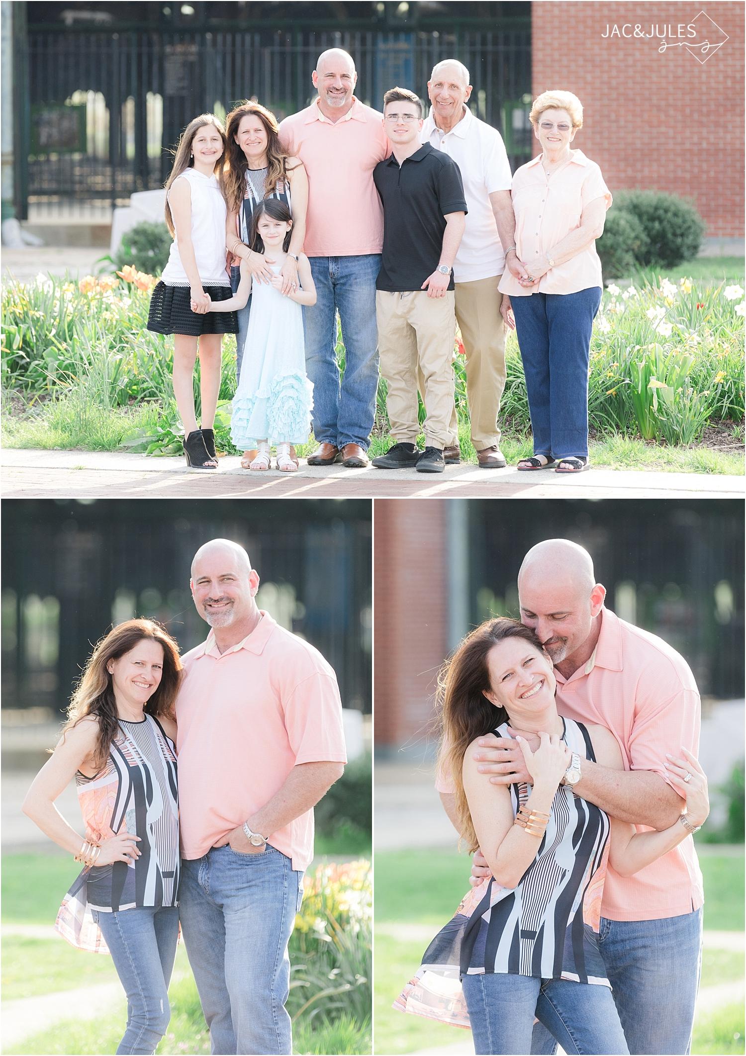 family photos at liberty state park