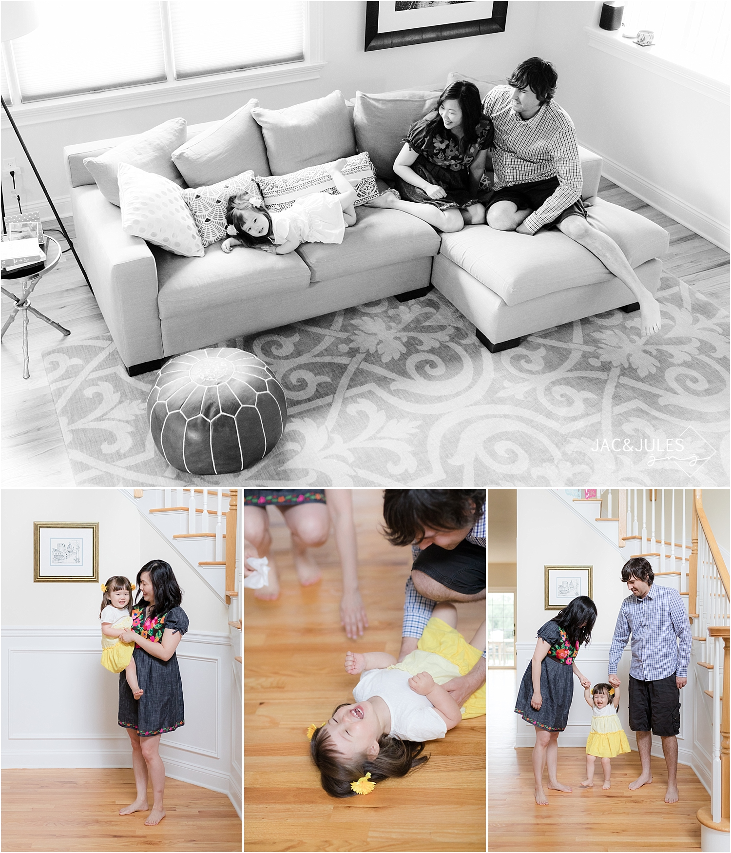 candid lifestyle family photos at home in NNJ