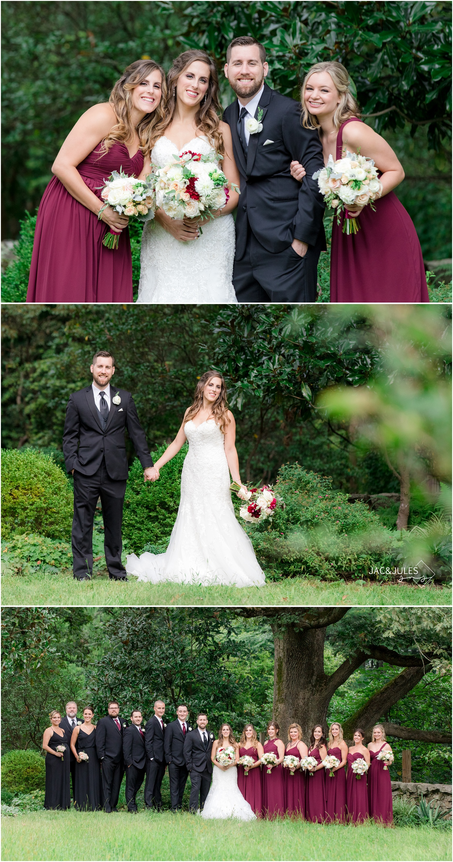 Family and Bridal Party photos at Cross Estate Gardens in Bernardsville, NJ.