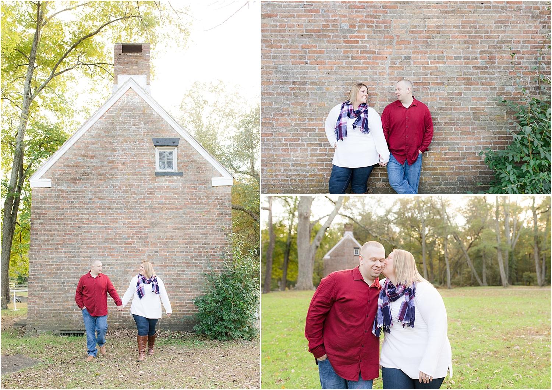 historic village at allaire engagement photo