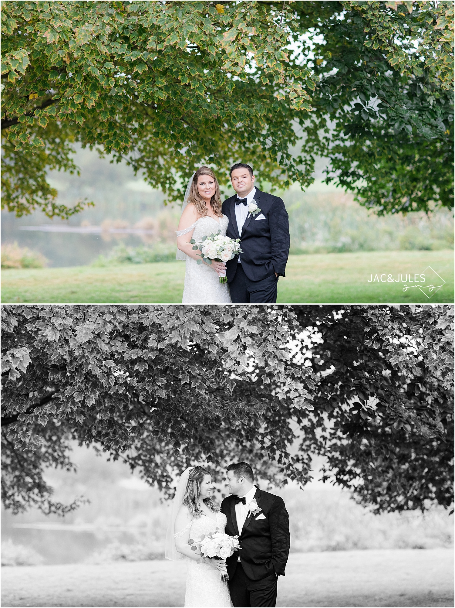 bride and groom portraits at Briant Park