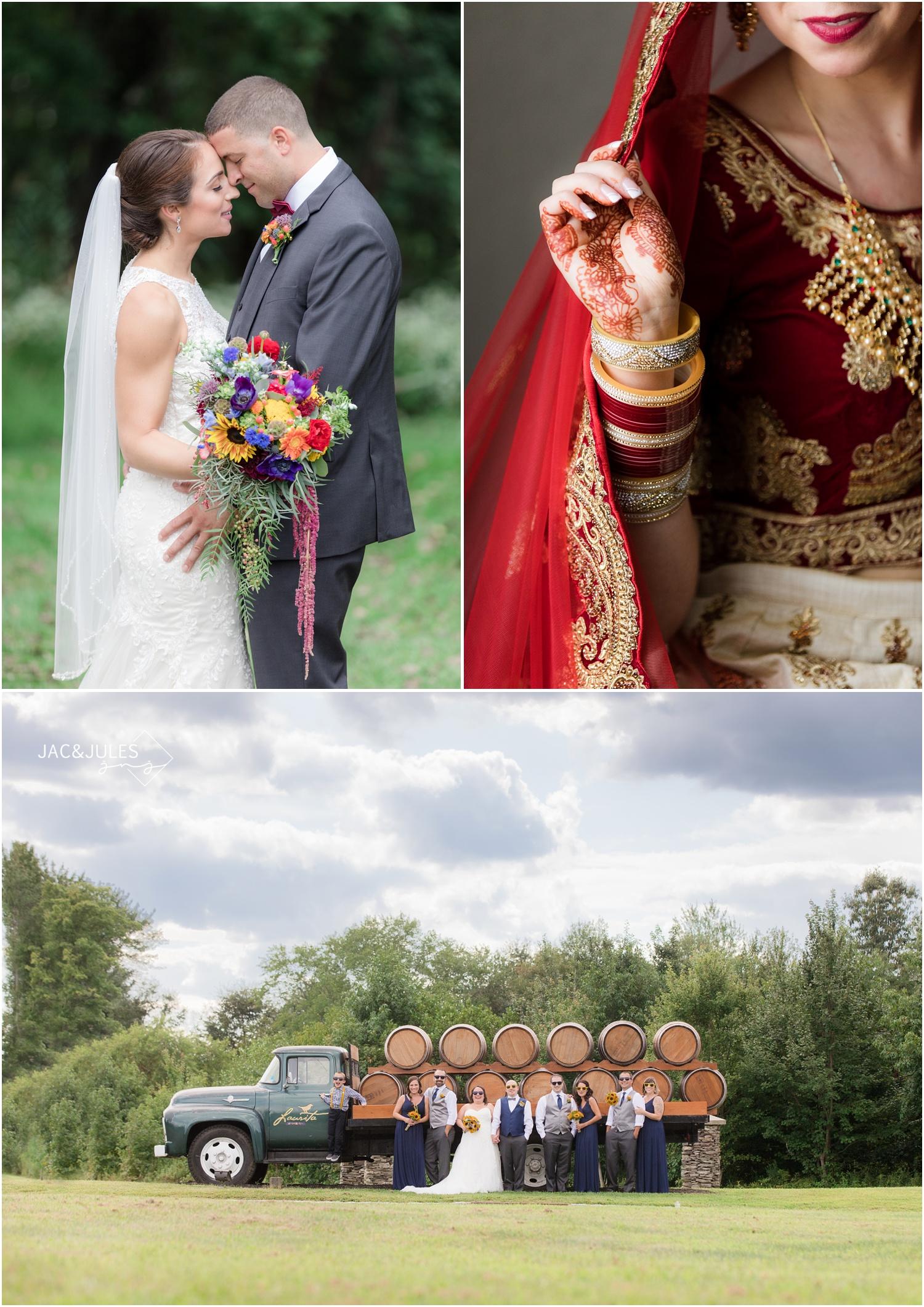 Wedding photo at Perona Farms, Laurita Winery wedding photo, and photo from an Indian Wedding.