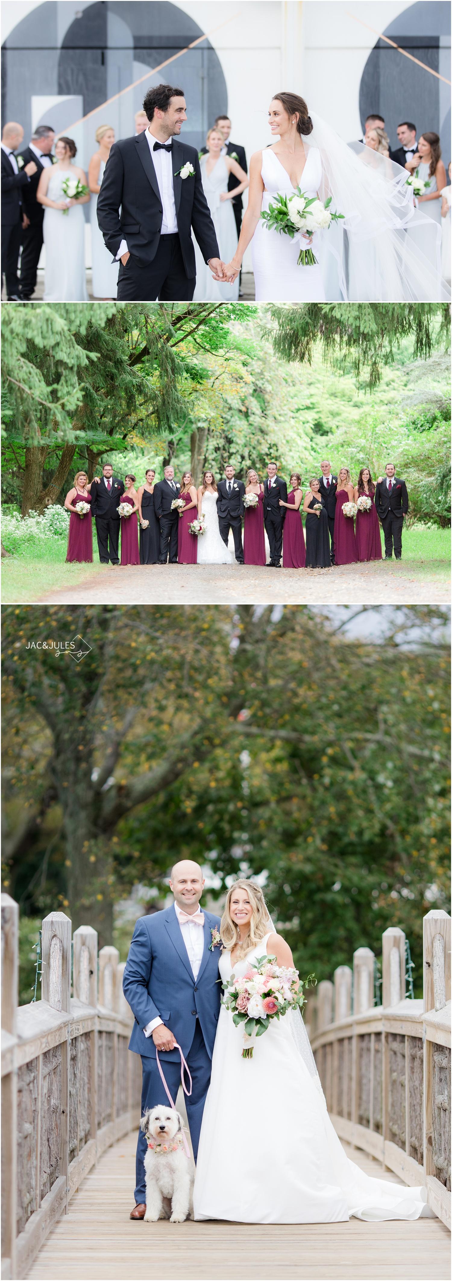 Wedding photos at The Berkeley in Asbury Park, plus Cross Estate Gardens wedding photos, and wedding portraits in Spring Lake.