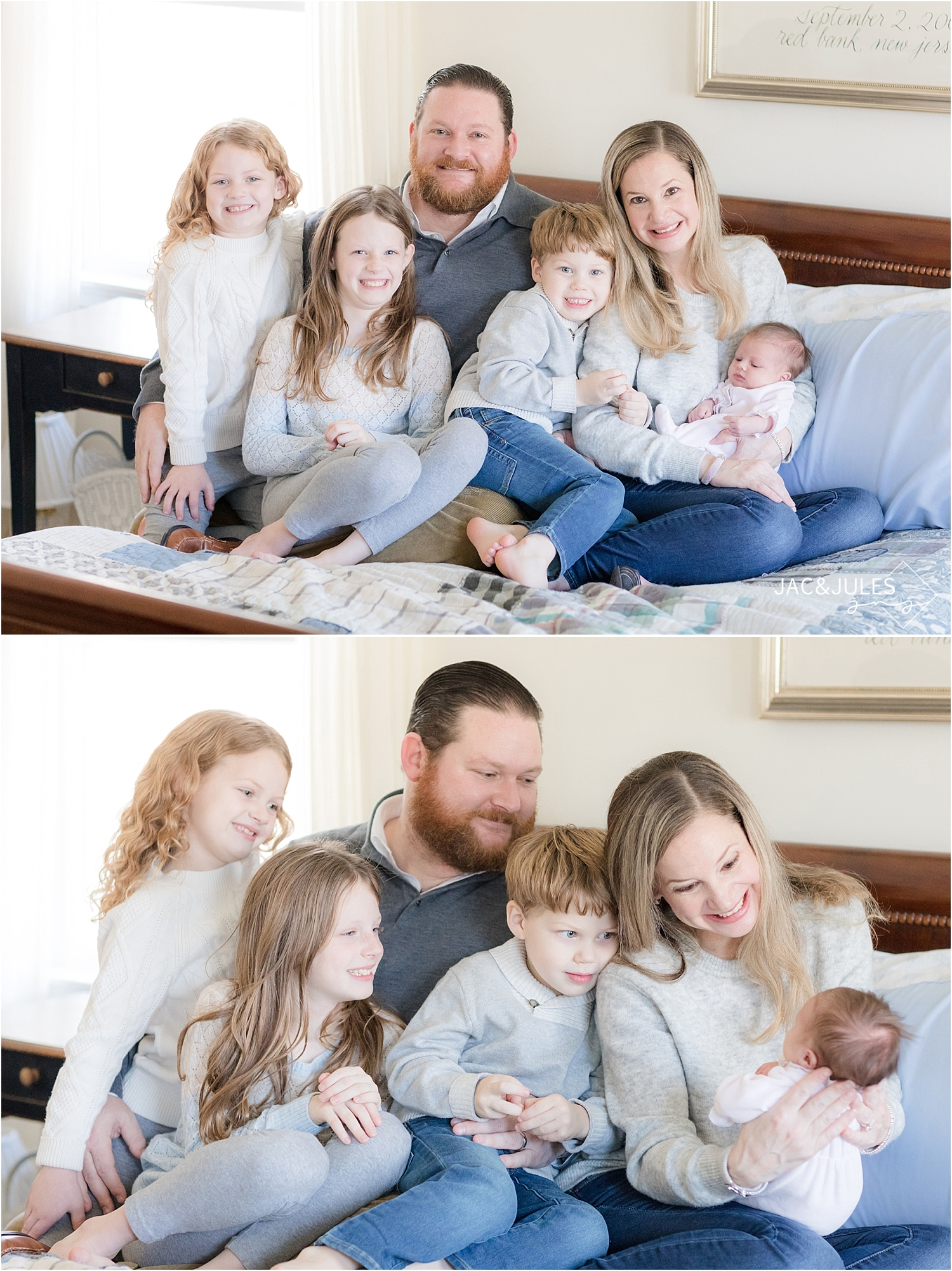 south jersey family newborn photo at home
