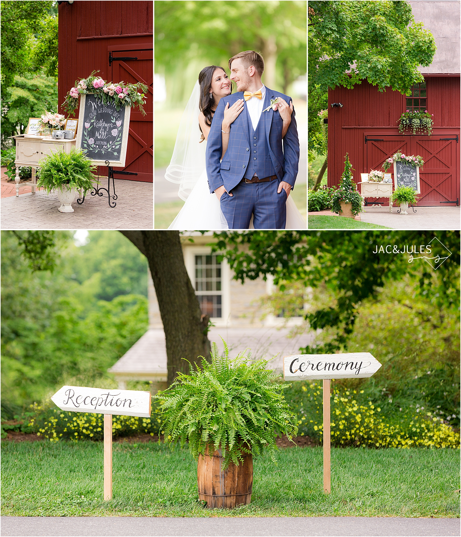 wedding details at farm at eagles ridge in lancaster PA