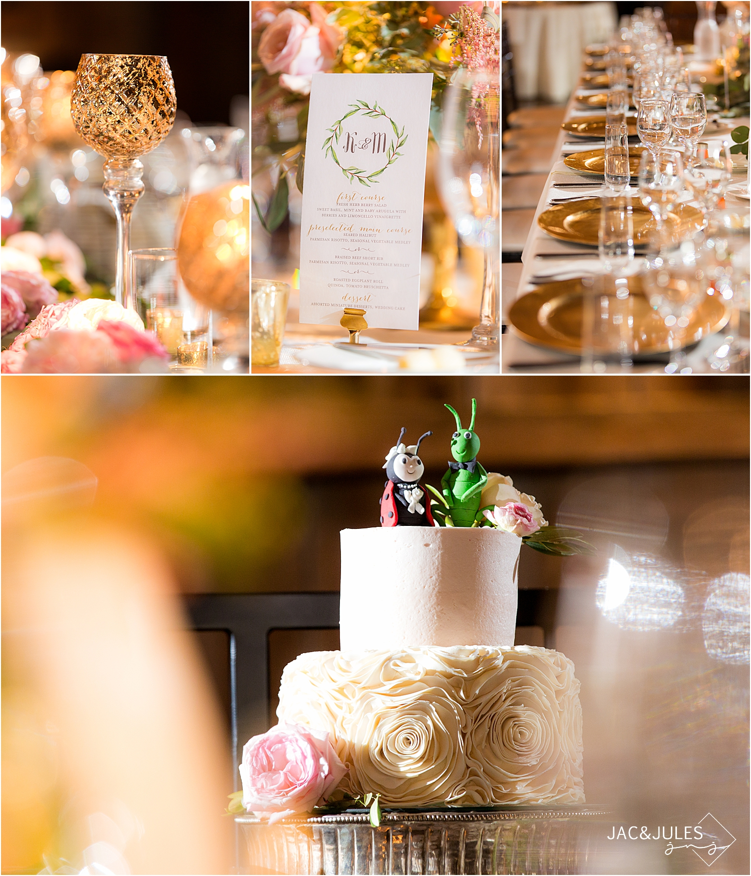 vintage glam wedding reception at farm at eagles ridge in Lancaster PA