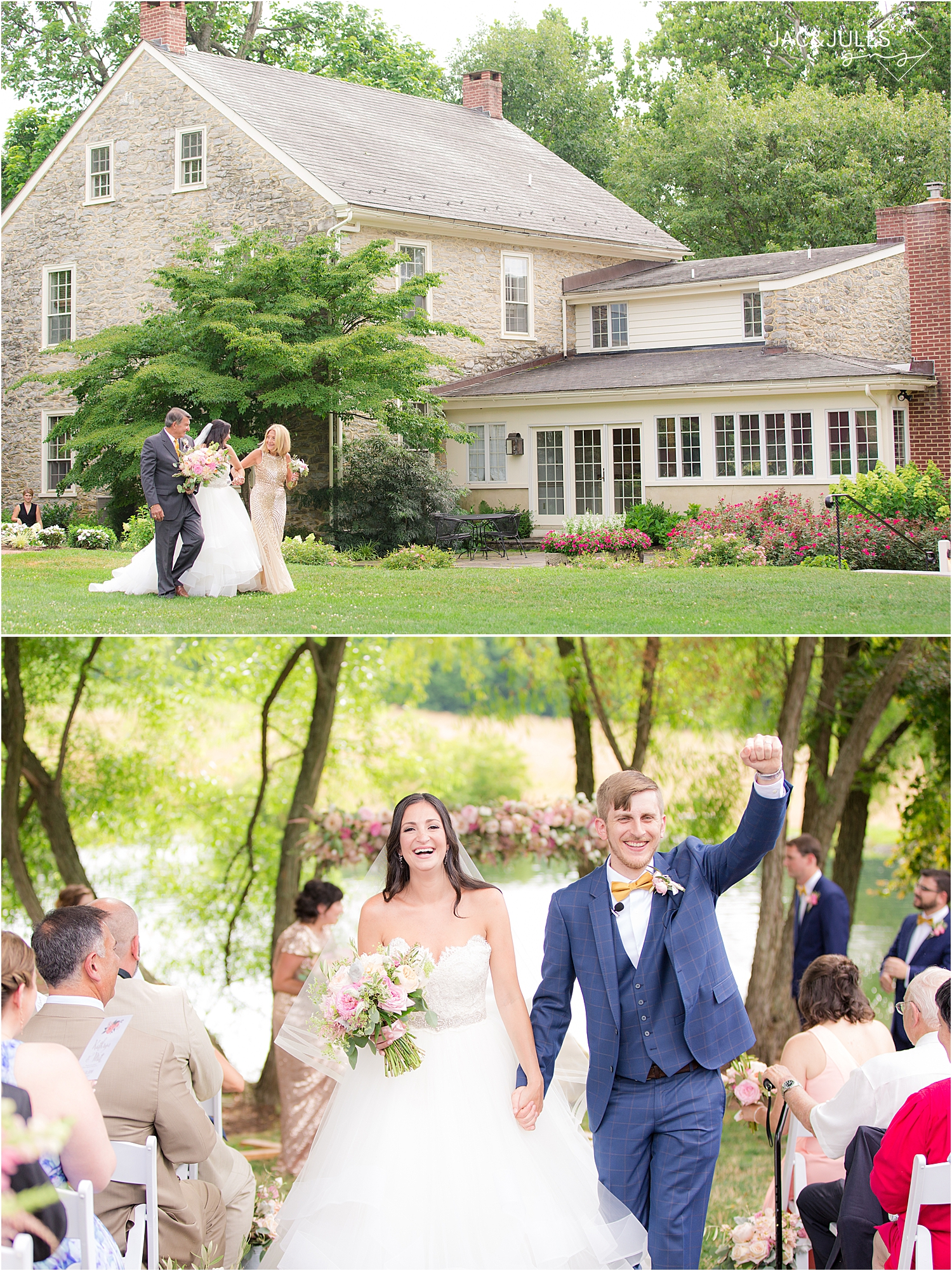 Farm at Eagles Ridge outdoor wedding ceremony