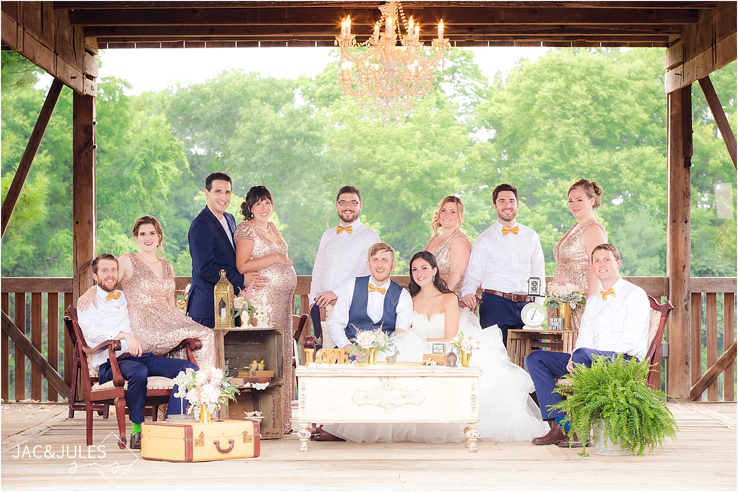photo of bridal party at farm at eagles ridge in lancaster PA