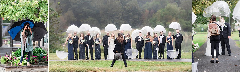 nj wedding photographers photograph a wedding in the rain