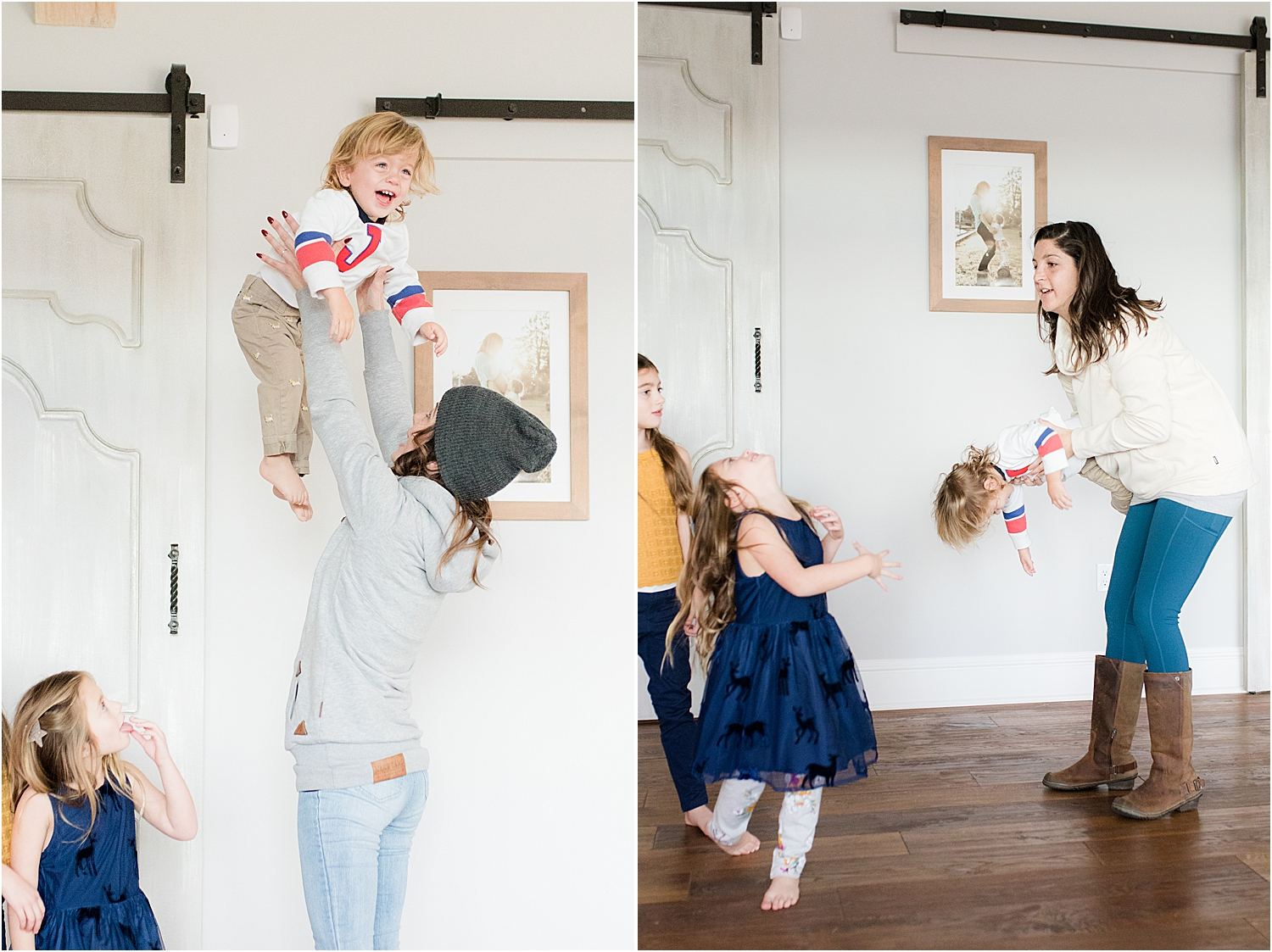fun behind the scenes with nj family photographers in Toms River