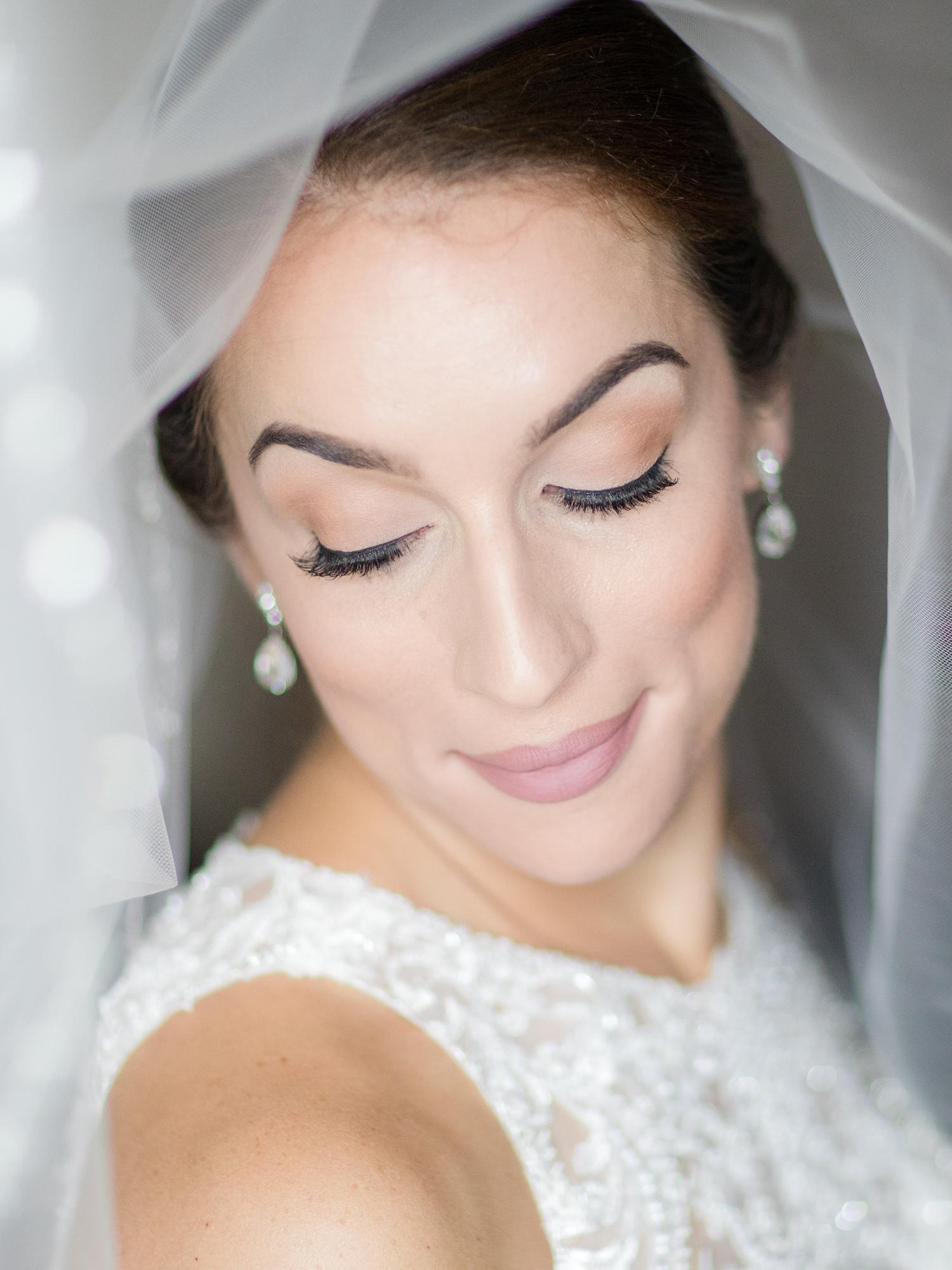 Bridal portrait at Perona Farms with wedding makeup by Make Me Up Eva.