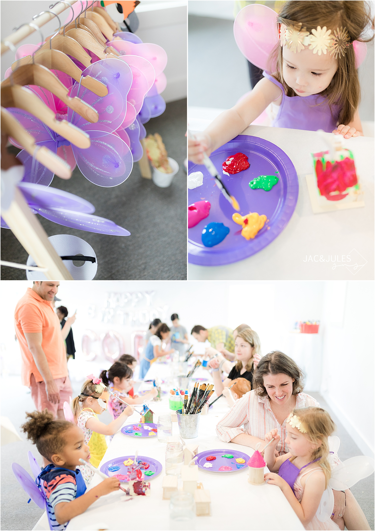 arts and crafts activity at toys with love birthday party