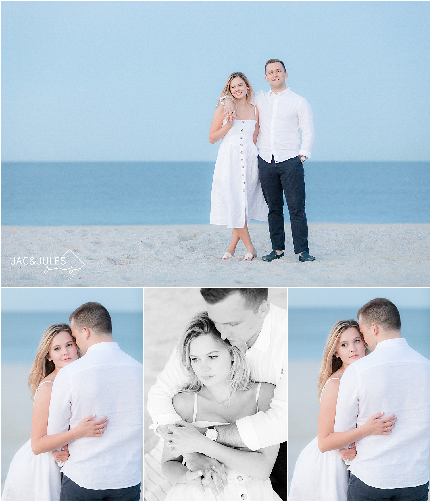sunset engagement photos in bay head nj