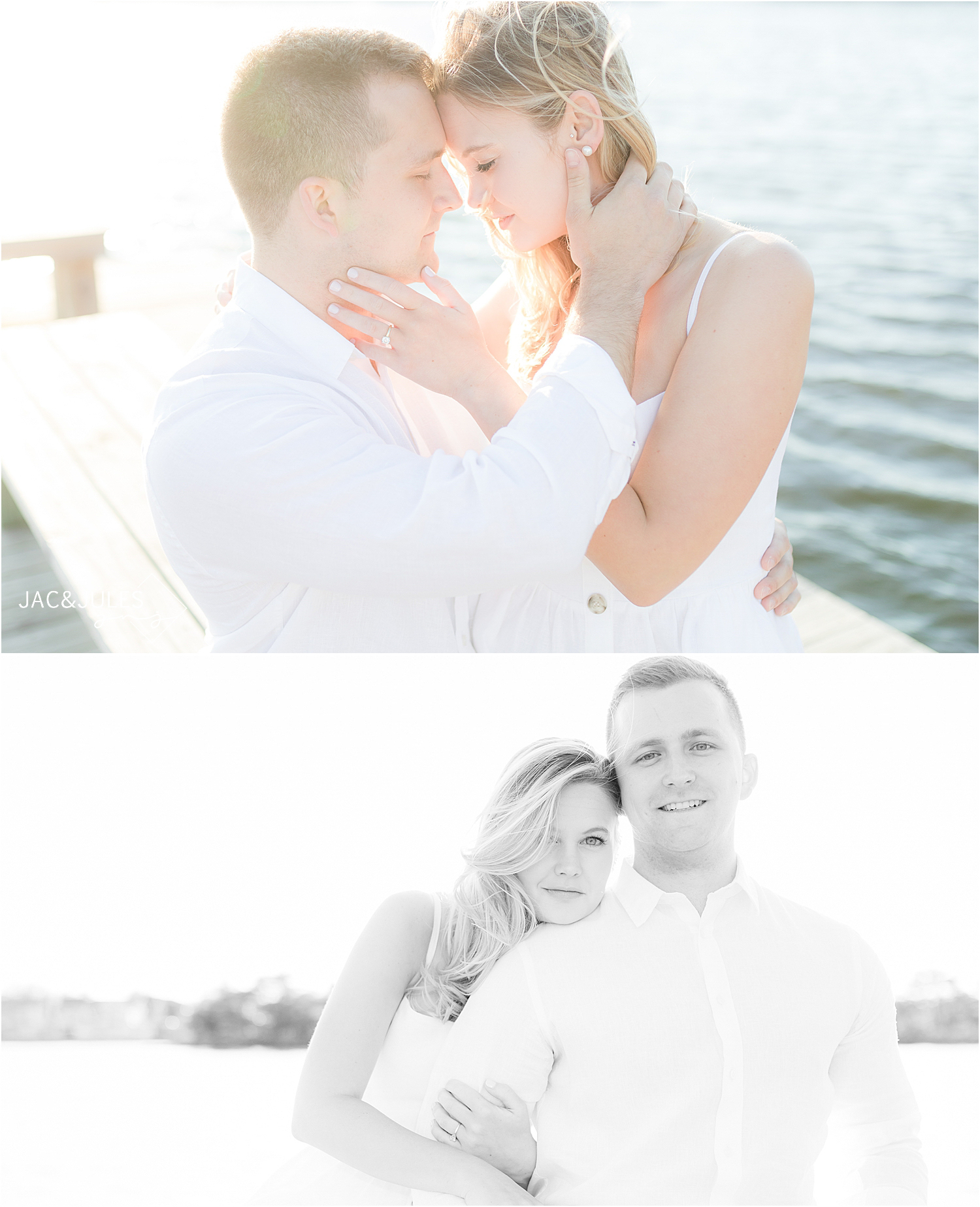 natural light engagement photos in bay head nj