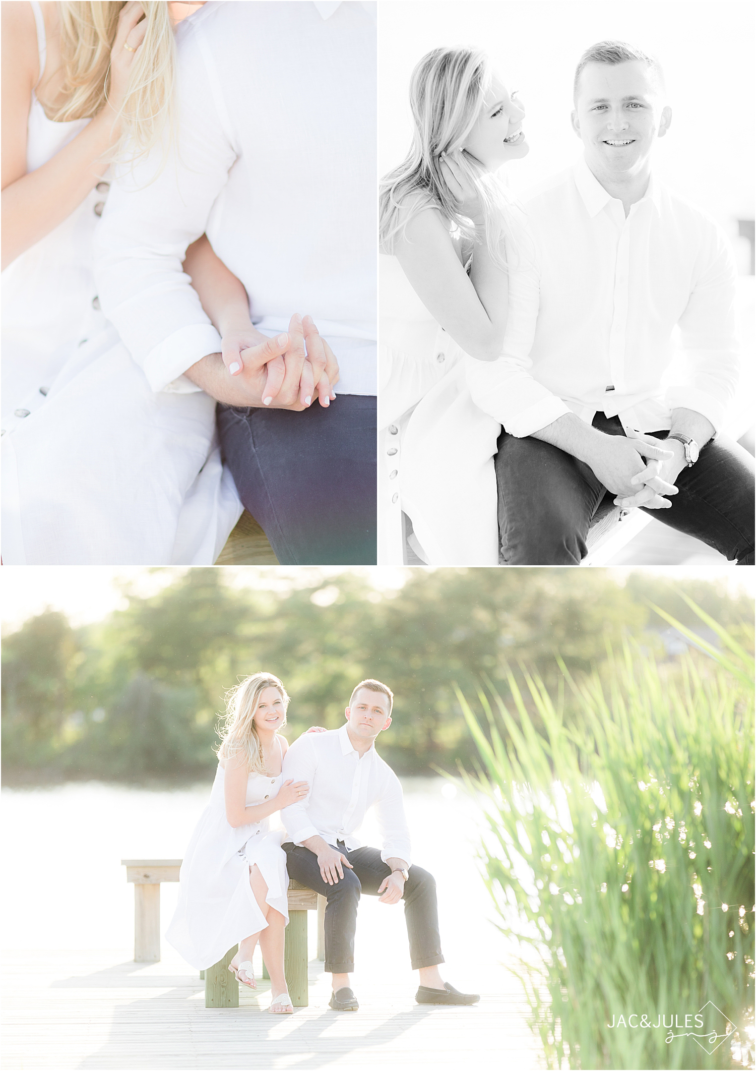 romantic engagement photos in bay head nj