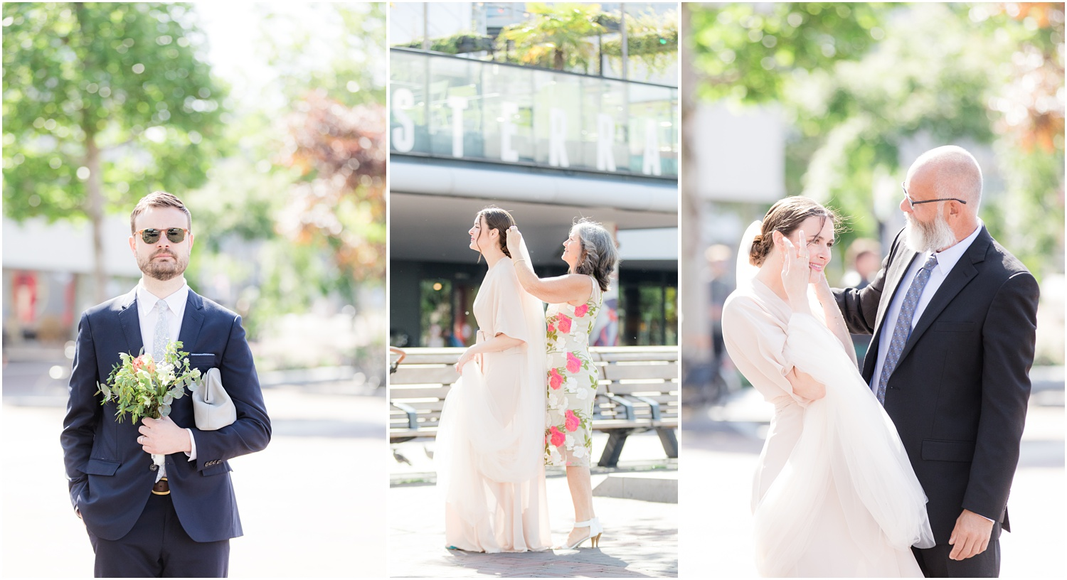 pre wedding outside de Bibliotheek Rotterdam.