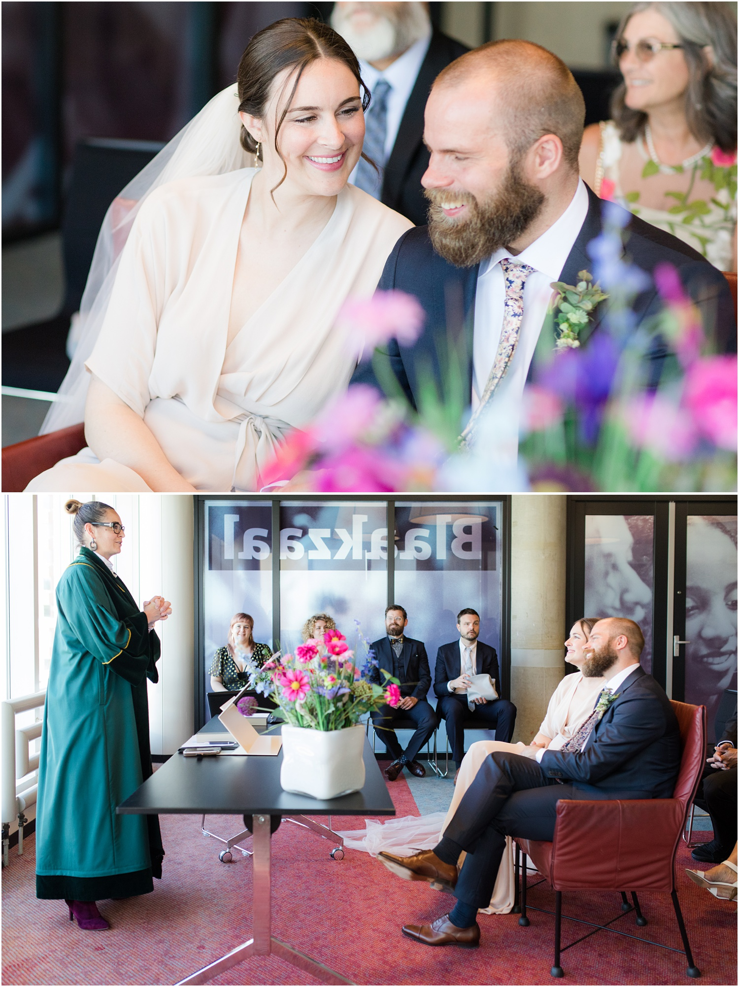 Wedding ceremony at de Bibliotheek Rotterdam