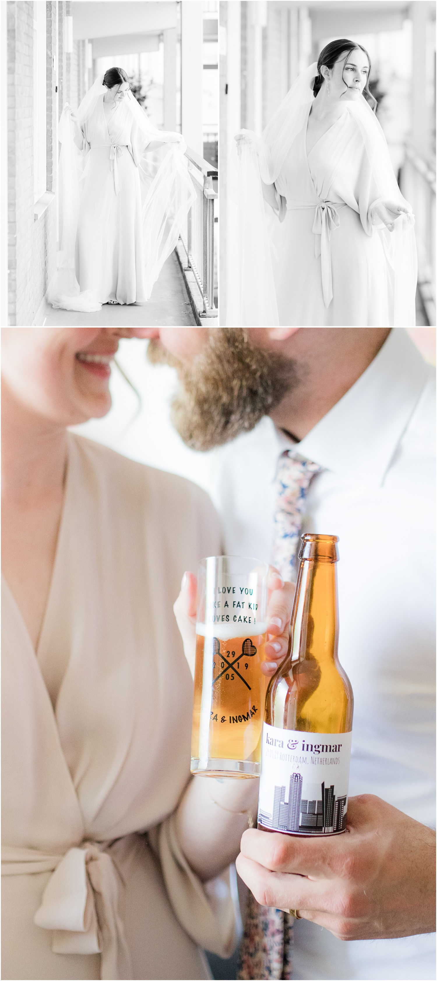 bridal portraits and home brewed wedding beer.