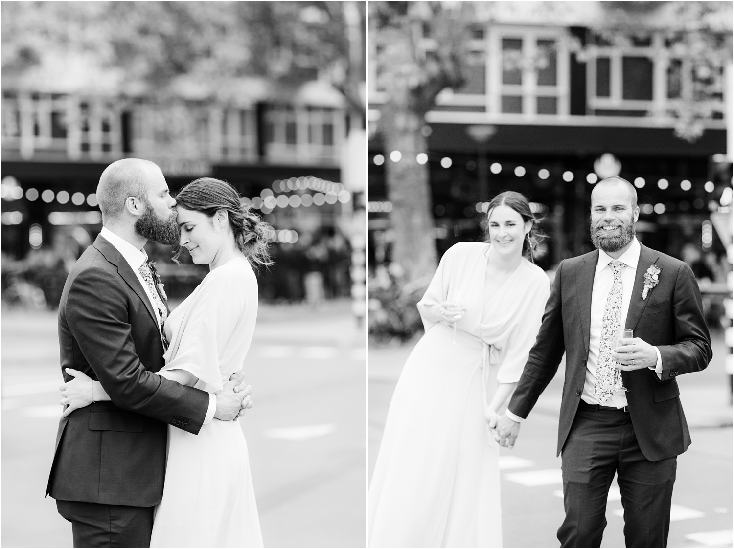 Intimate Wedding photos on the streets of Rotterdam