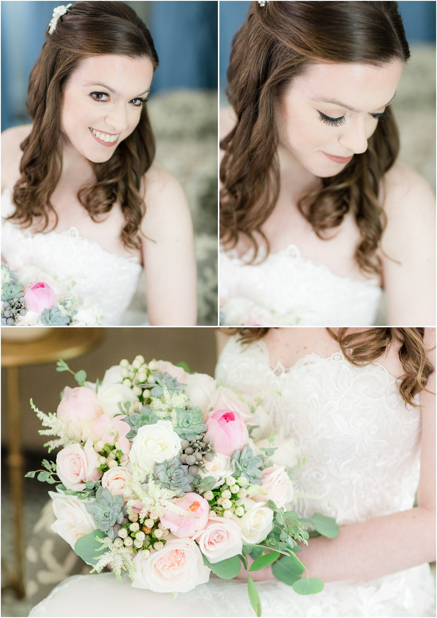 Bridal portraits at The Olde Mill Inn in Basking Ridge, NJ.