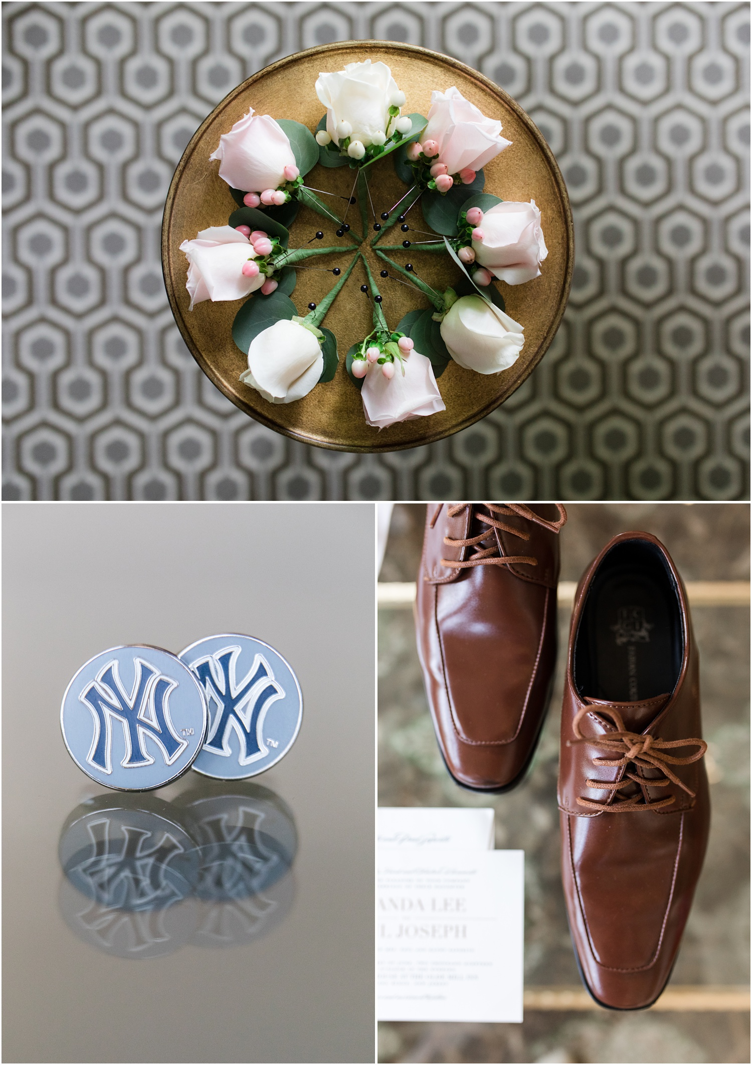 Grooms accessories and details at The Olde Mill Inn in Basking Ridge, NJ.