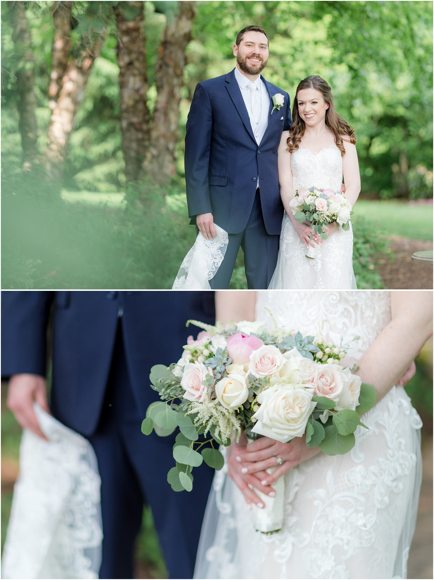 Traditional Bride and groom portraits at The Grain House in Basking Ridge, NJ.