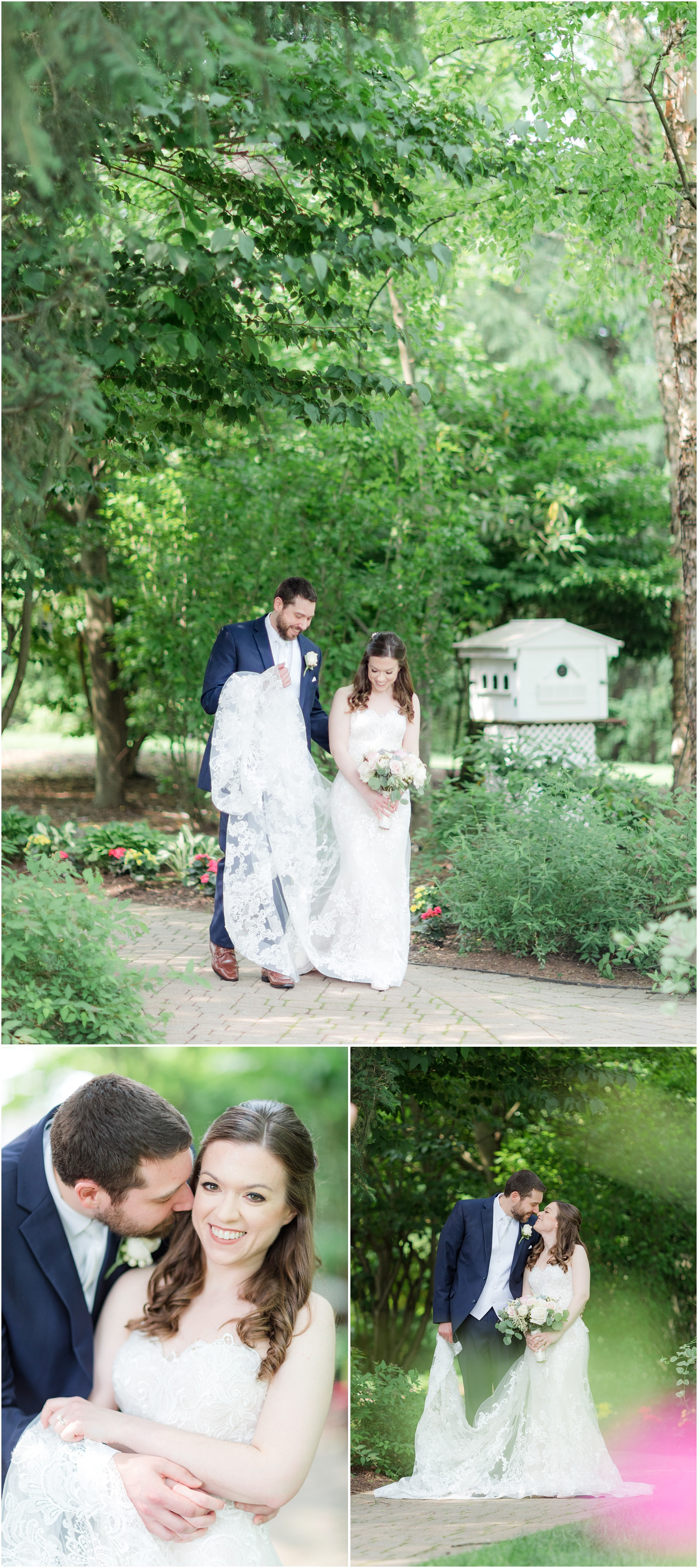 Romantic Bride and groom portraits at The Grain House in Basking Ridge, NJ.