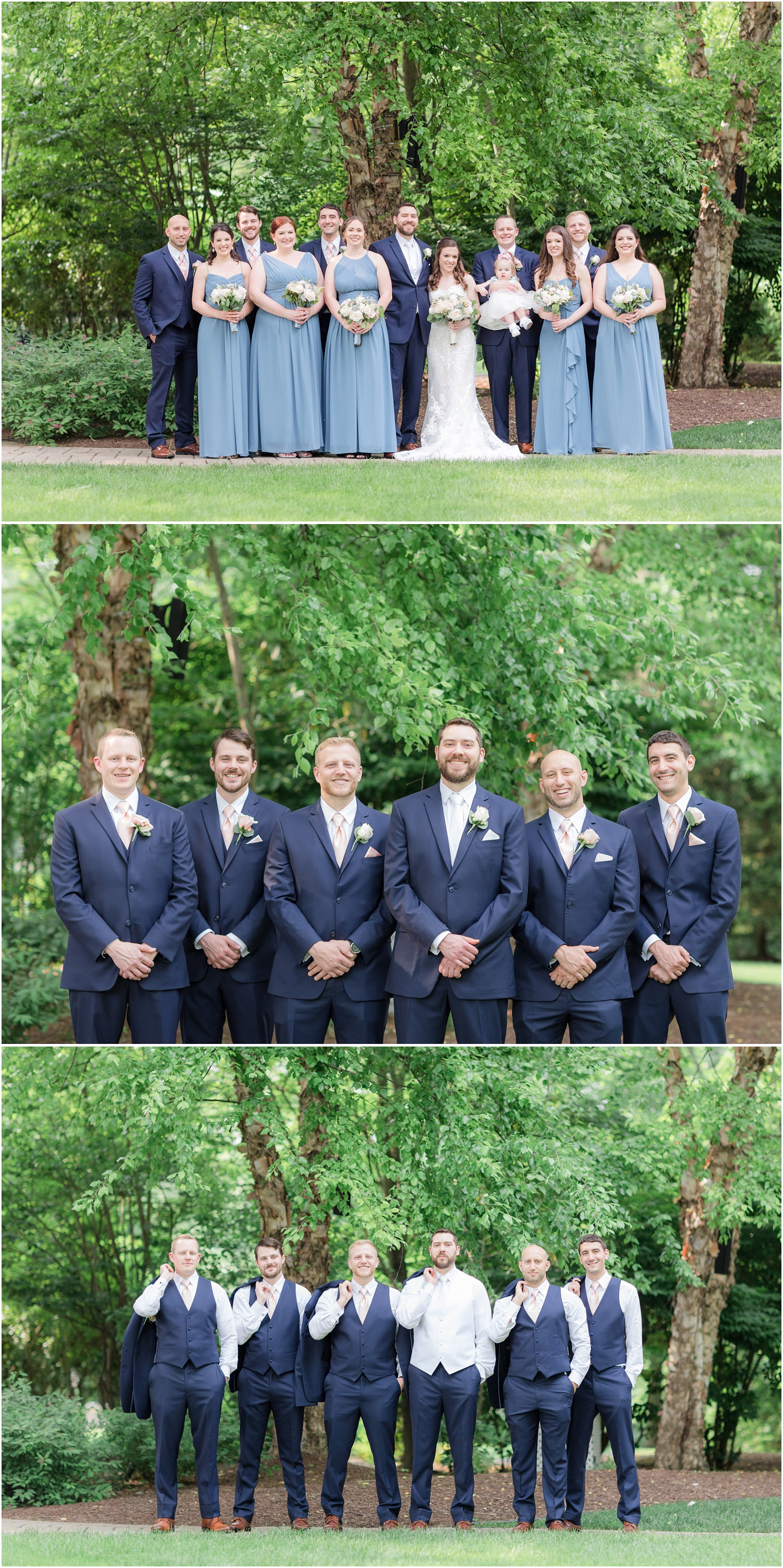 Bridal party photos at The Grain House in Basking Ridge, NJ.