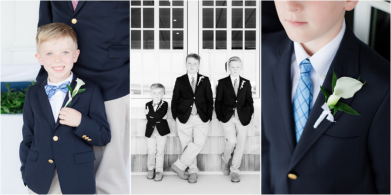 ring bearer photo at bay head yacht club wedding