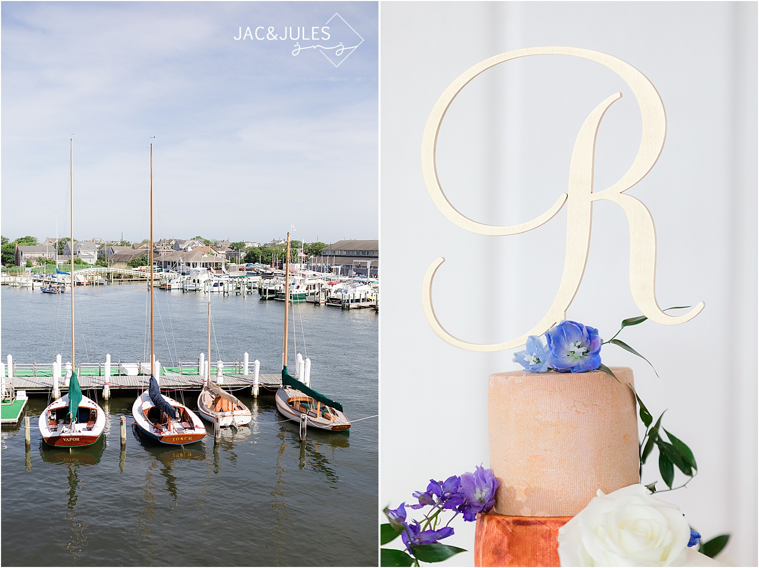 coastal views at bay head yacht club wedding venue