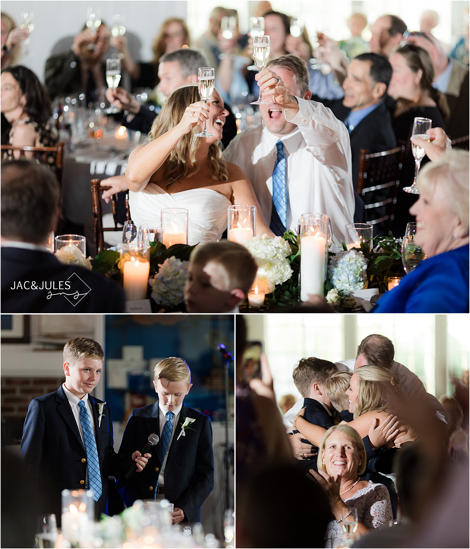 wedding toasts at bay head yacht club
