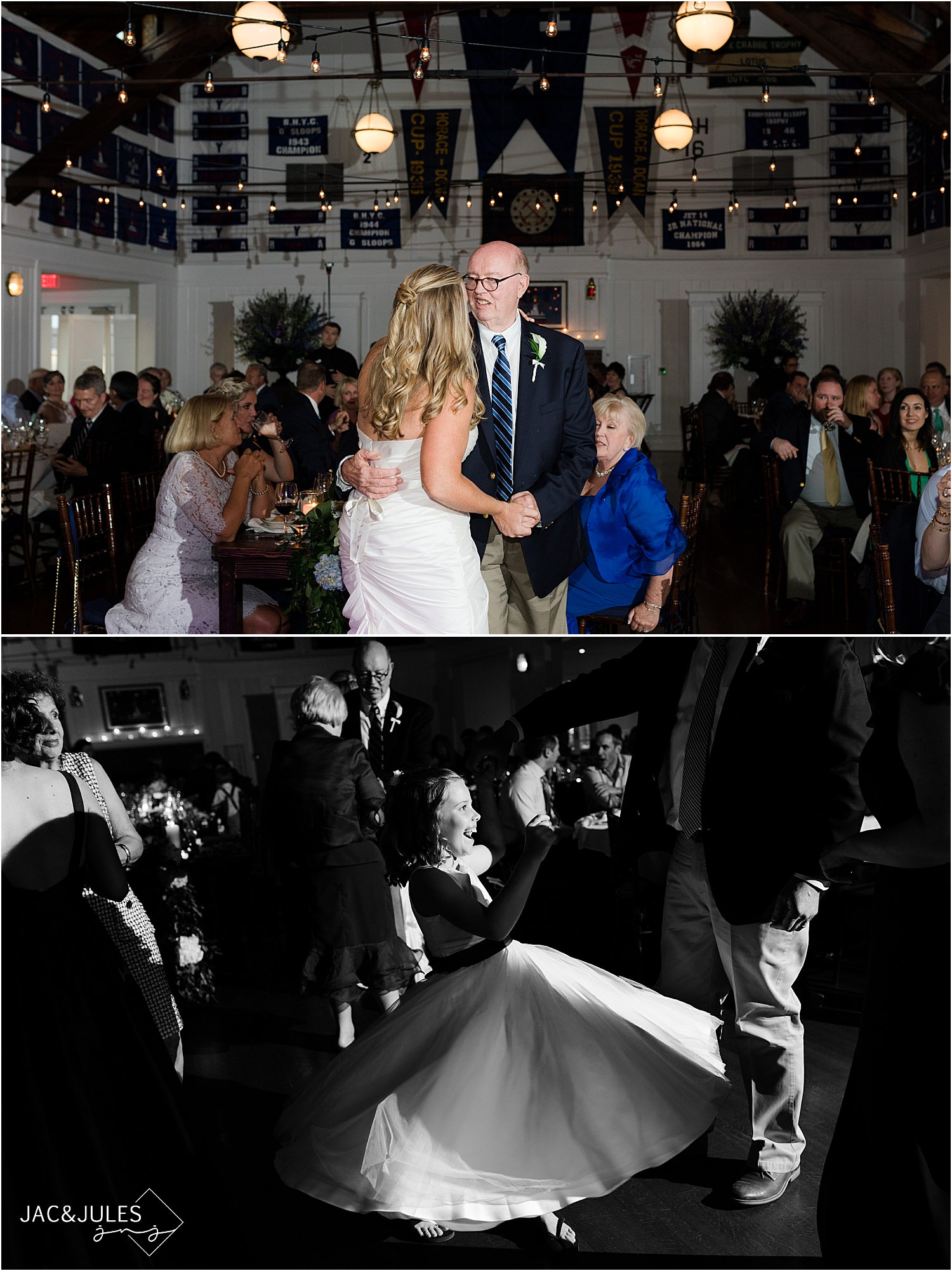 father daughter dance at bay head yacht club wedding